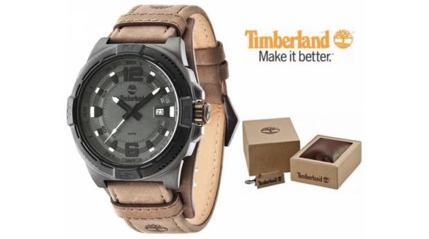 Relógio Timberland® Penacook Castanho