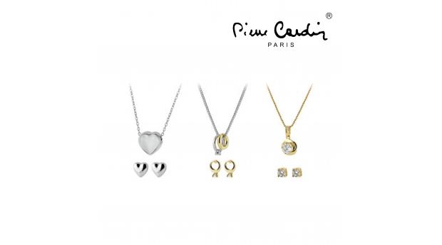 Conjunto Pierre Cardin® 3 Colares e 3 Brincos  -  Dourado e Prateado