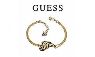 Guess® Pulseira Heart Black & Gold