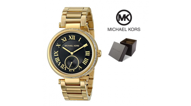 Relógio Michael Kors® Skylar Black Dial Gold