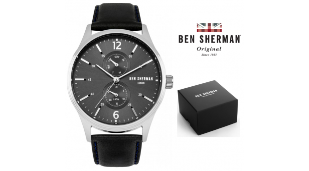 Black Week! Relógio Ben Sherman® London Original Since 1963 WB047B I 3ATM