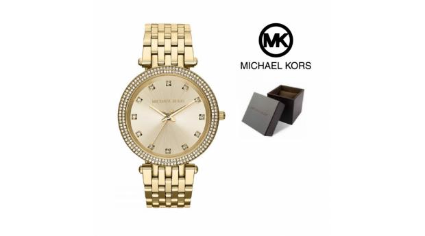 Relógio Michael Kors® Darci Gold Tone Glitz Dial  -  5ATM