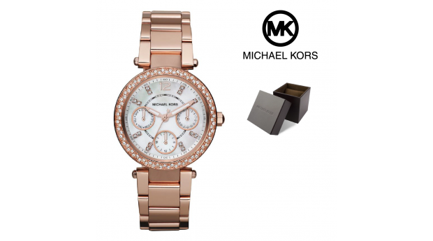 Relógio Michael Kors® Mini Parker Rose Gold  -  10ATM