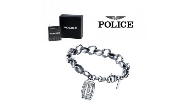 Pulseira Police® klondike Silver  -  22cm
