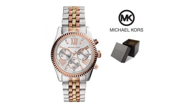 Relógio Michael Kors® Lexington Chronograph Tri-Tone  -  10ATM
