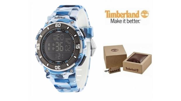 Relógio Timberland® Cadion Blue Camouflage  -  Bracelete Silicone  -  10ATM