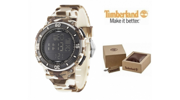 Relógio Timberland® Cadion Brown Camouflage  -  Bracelete Silicone  -  10ATM