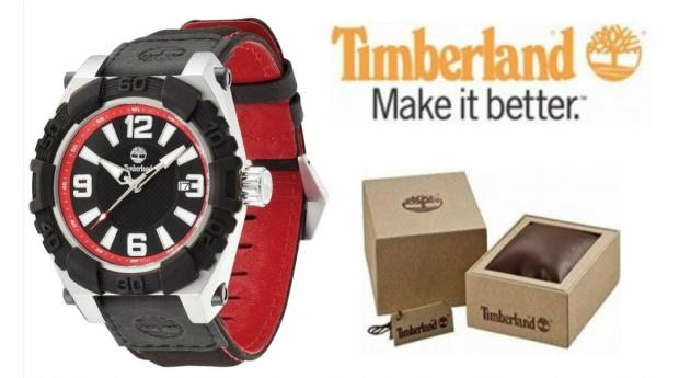 Relógio Timberland® Hookset Preto  -  Vermelho  -  10ATM