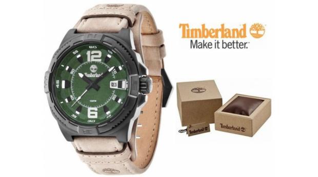 Relógio Timberland® Penacook Bege  -  Verde  -  10ATM