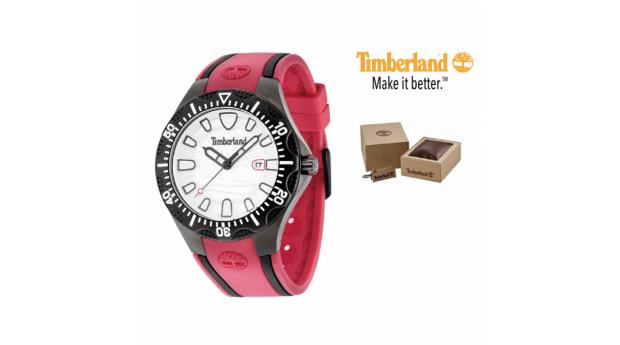 Timberland® Relógio Dixiville  -  Bracelete Vermelha  -  10ATM