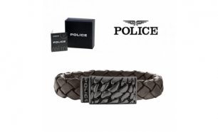 Pulseira Police® Alligator Brown