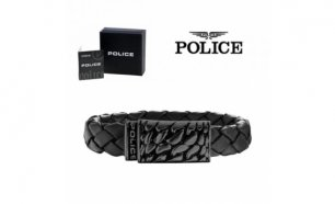 Pulseira Police® Alligator Black