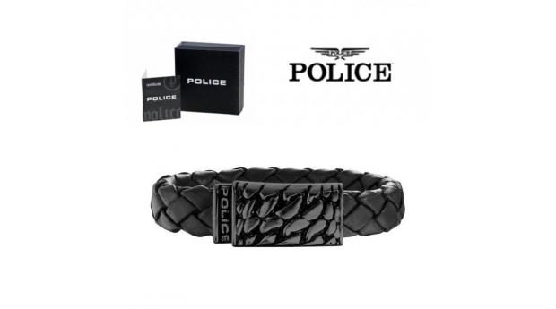 Pulseira Police® Alligator Black  -  20cm