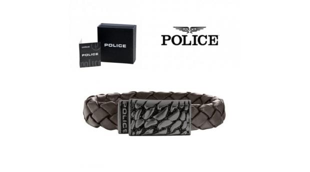 Pulseira Police® Alligator Brown  -  18cm