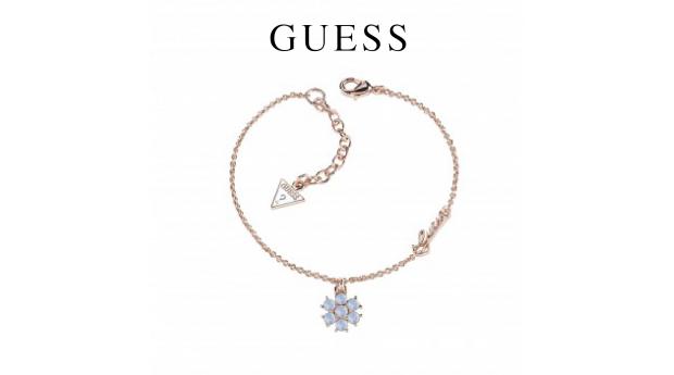 Guess® Pulseira Small Flower Blue