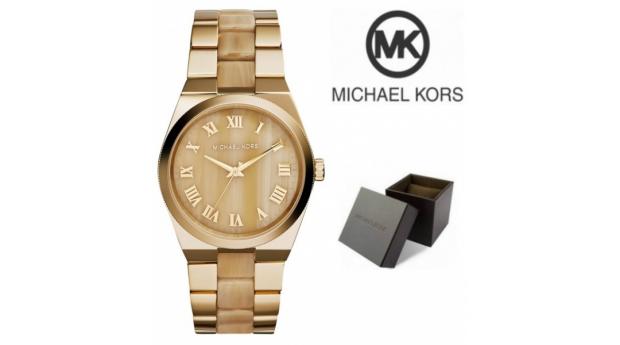 Relógio Michael Kors® Channing Horn Brown Gold