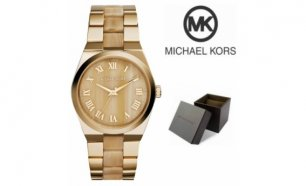Relógio Michael Kors® Channing Horn Brown Gold