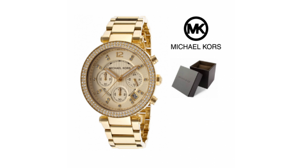 Relógio Michael Kors® Crystal Chronograph Champagne  -  5 ATM