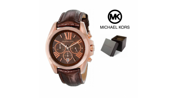 Relógio Michael Kors® Brown Snake Embossed Leather Strap