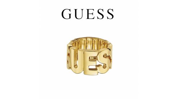 Guess® Anel Letras Guess  -  Dourado  -  Tamanho52