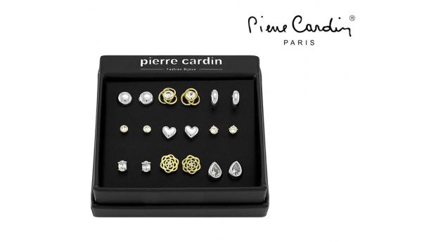 Conjunto Pierre Cardin® Gold and Silver  -  9 Pares de Brincos