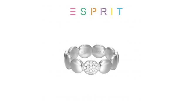 Esprit® Anel Círculos com Cristais Brilhantes