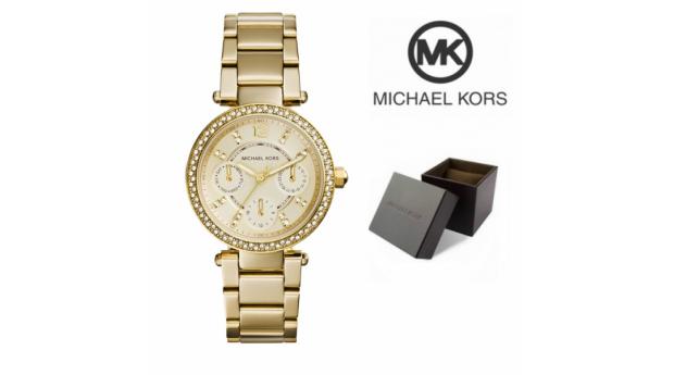 Relógio Michael Kors® Mini Parker Champagne Glitz