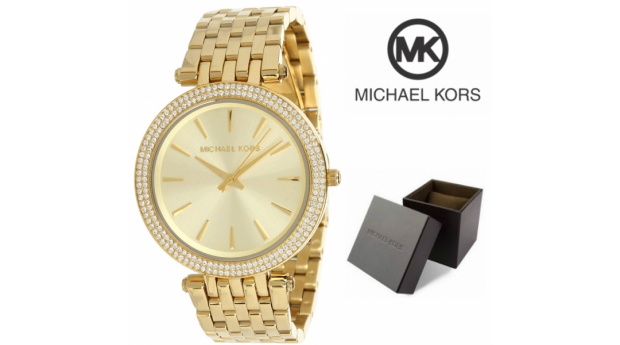Relógio Michael Kors Darci Glitz Dourado