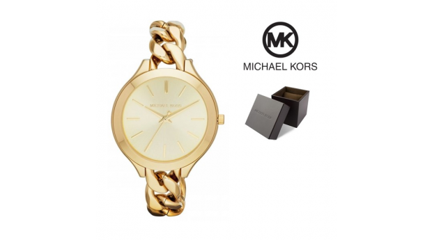 Relógio Michael Kors® Slim Runway Champagne Dial Gold