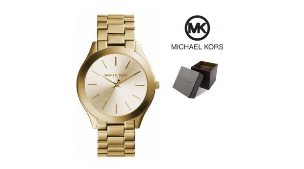 Relógio Michael Kors Fino Runway Ii Mostrador Dourado