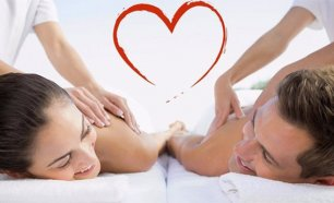 Ritual Love on Top! Massagem de Relaxamento para Casal com Mini Facial e Champanhe!