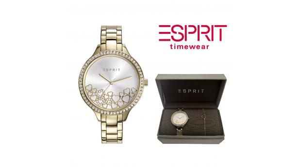 Relógio Esprit® Conjunto Heart Rose Gold  -  Com Oferta Pulseira
