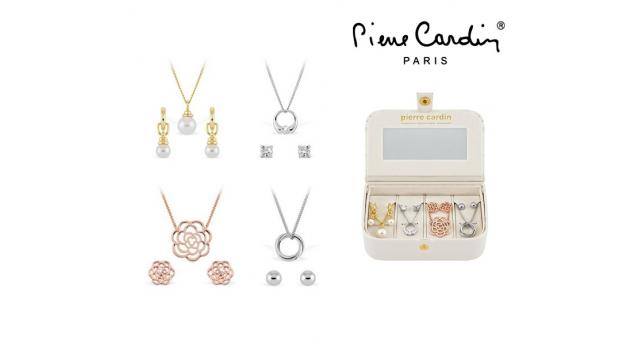 Conjunto Pierre Cardin® Radiant Crystal  -  4 Colares e Pares Brincos