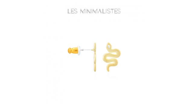 Les Minimalistes® Brincos Snake Gold