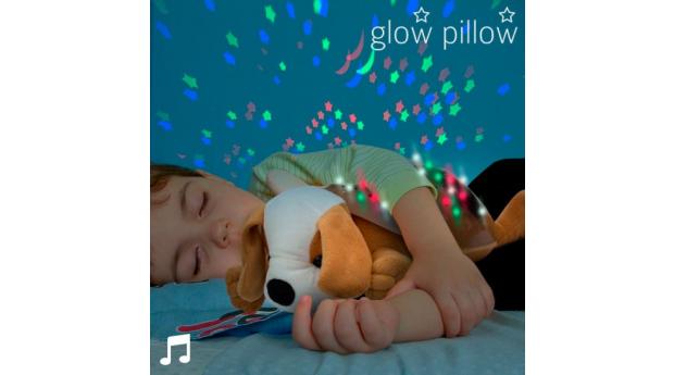 Projetor LED Glow Pillow com Som de Cãozinho