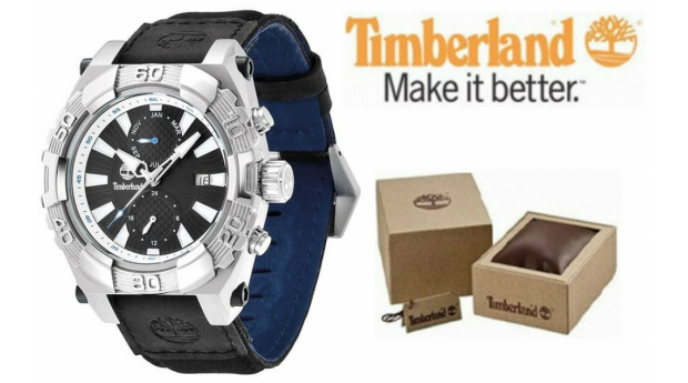Relógio Timberland® Hookset Multifunction Bracelete Preta  -  10ATM