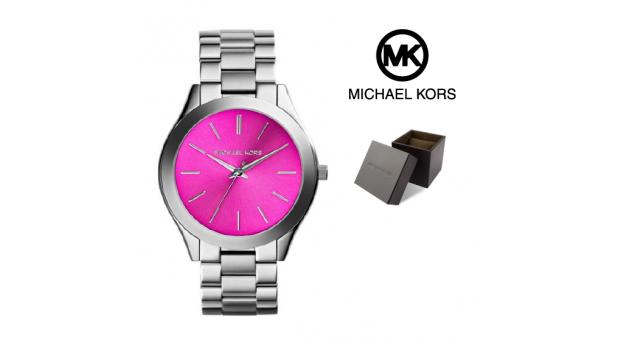 Relógio Michael Kors® Runway Rosa Prateado  -  3ATM