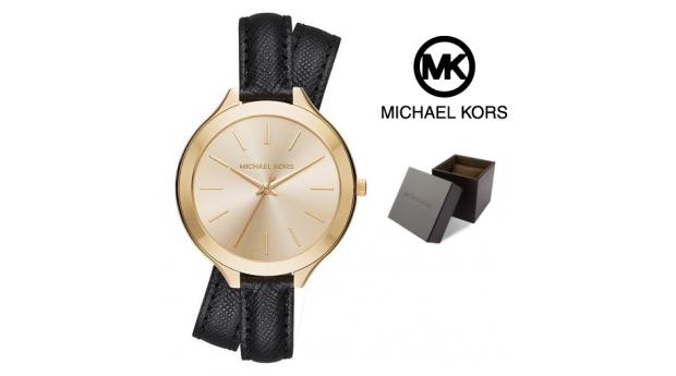 Relógio Michael Kors® Slim Runway Gold Tone Dial  -  5ATM