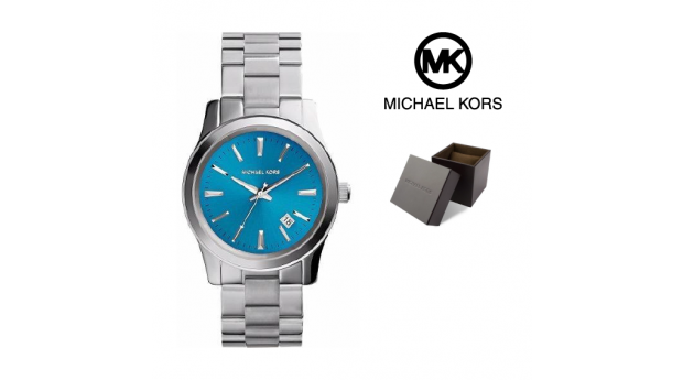 Relógio Michael Kors® Stainless Steel Blue Dial  -  10ATM
