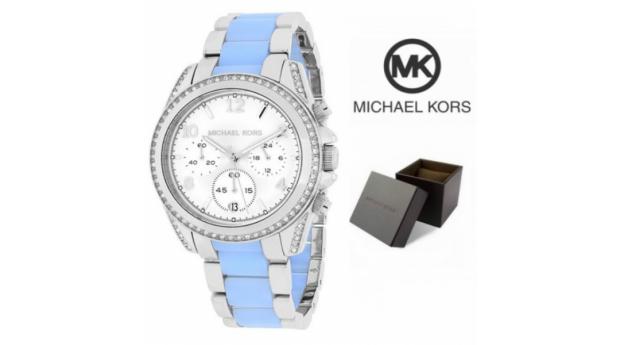 Relógio Michael Kors Blair Prateado & Azul