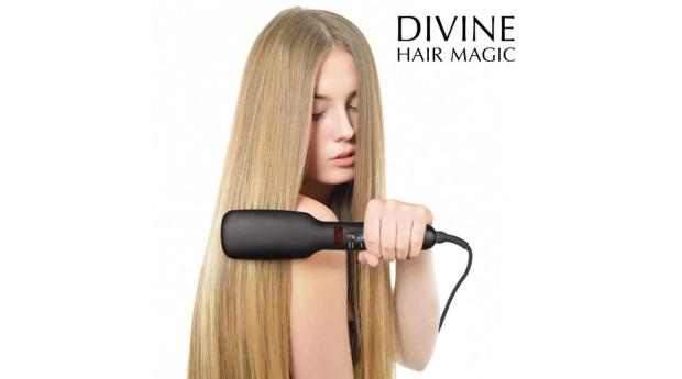 Escova Alisadora Elétrica Iondict Divine Hair Magic