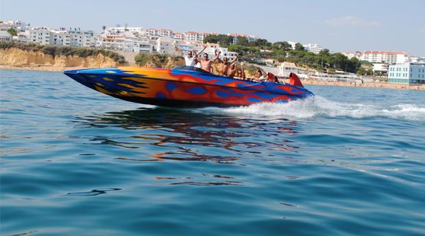 Emoções à Flor da Pele na Costa Algarvia! Passeio de Ocean Rocket ou Jet Boat para Adulto ou Criança!