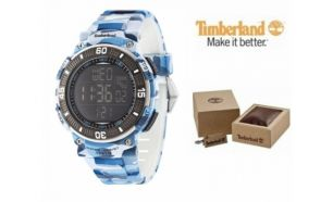 Relógio Timberland® Cadion Blue Camouflage | Bracelete Silicone | 10ATM