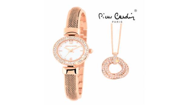 Conjunto Pierre Cardin®  Classic Charm Rose Gold  -  Relógio  -  Colar