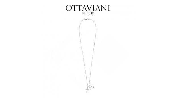 Ottaviani® Colar Love Anchor  -  Prateado
