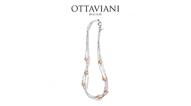 Ottaviani® Colar Classic Elegance  -  Prateado e Rose Gold