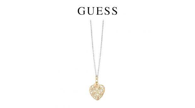 Colar Guess® Jasmine Dourado Heart