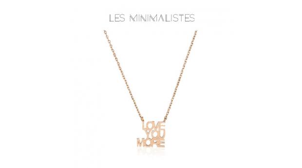 Les Minimalistes® Colar Love You More Rose Gold