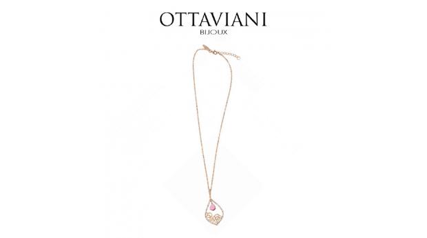 Ottaviani® Colar Bright Pink  -  Rose Gold