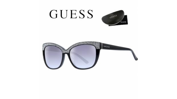 Guess® By Marciano Óculos de Sol GM0730 5501B  -  Preto e Prateado